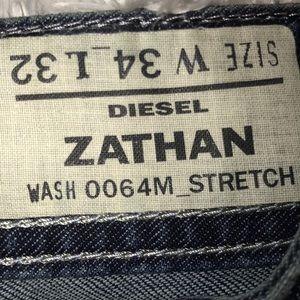 Diesel Zathan Men's Raw Denim Jeans 34W 32L